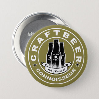 Craft Beer Connoisseur Yellow Pinback Button