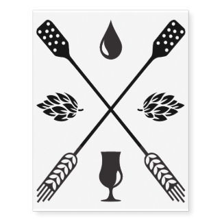 Craft Beer / Homebrew / Drink Local Temporary Tattoos
