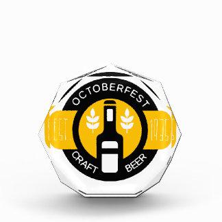 Craft Beer Logo Design Template With Bottle Award