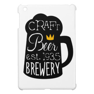 Craft Beer Logo Design Template With Pint Silhouet Cover For The iPad Mini