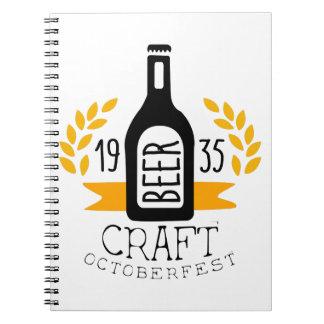 Craft Beer Oktoberfest Logo Design Template Notebook