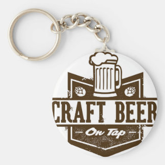 Craft Beer On Tap Keychain