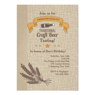 Craft Beer Tasting Invitation