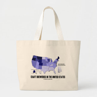 Craft Breweries In the United States (US Map) Large Tote Bag