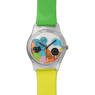 Craft Buttons Colorful Wristwatch