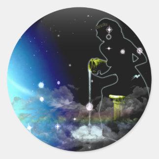 Craft Dungeon Zodiac - Aquarius Classic Round Sticker