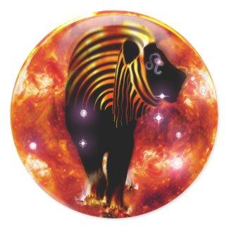 Craft Dungeon Zodiac-Leo Round Sticker