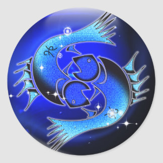 Craft Dungeon Zodiac - Pisces Classic Round Sticker