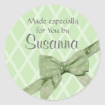 Craft/ Gift with bow Classic Round Sticker