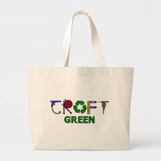 Craft Green Large Tote Bag
