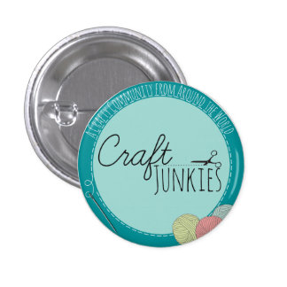 Craft Junkies Round Button