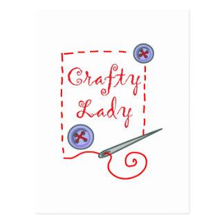 Craft Lady Postcard