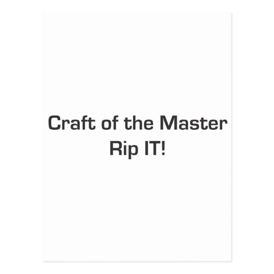 Craft of the Master Postcard