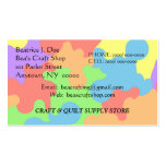 CRAFT PAINT SUPPLY CRAFTER'S BUSINESS CARD