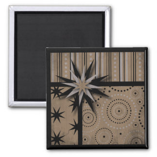 Craft Paper look Magic and Witchcraft Prints 2 Inch Square Magnet