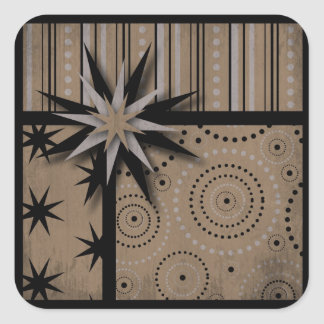 Craft Paper look Magic and Witchcraft Prints Square Sticker