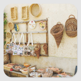 Craft product at a market stall, Siena Province, Square Sticker