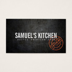 Craft Rustic Modern Catering Business Card at Zazzle