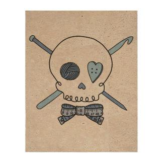 Craft Skull Blue Back Cork Paper