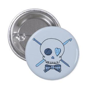 Craft Skull (Blue Background) 1 Inch Round Button