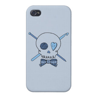 Craft Skull (Blue Background) iPhone 4 Covers
