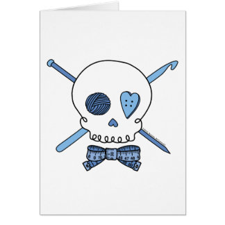 Craft Skull (Blue) Card