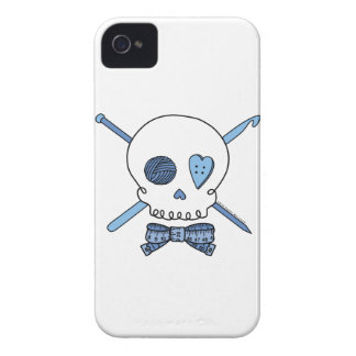 Craft Skull (Blue) iPhone 4 Covers
