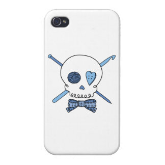 Craft Skull (Blue) iPhone 4 Cover
