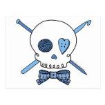 Craft Skull (Blue) Postcard