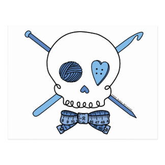 Craft Skull (Blue) Postcard