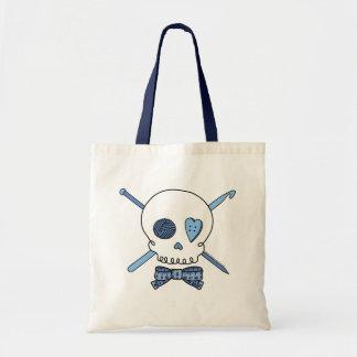 Craft Skull (Blue) Tote Bag