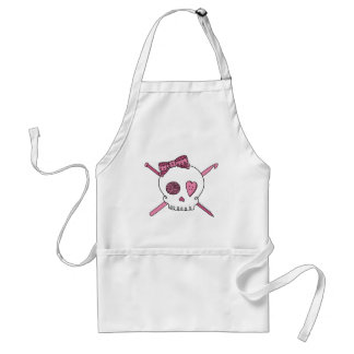 Craft Skull (Pink) Adult Apron