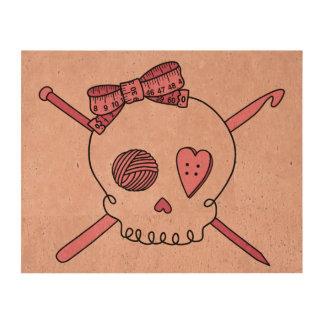 Craft Skull Pink Back Cork Paper Print