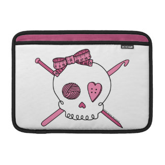 Craft Skull (Pink) MacBook Sleeves