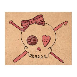 Craft Skull Pink Cork Paper Print