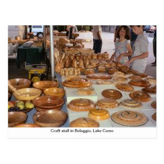 Craft stall in Belaggio, Lake Como Postcard
