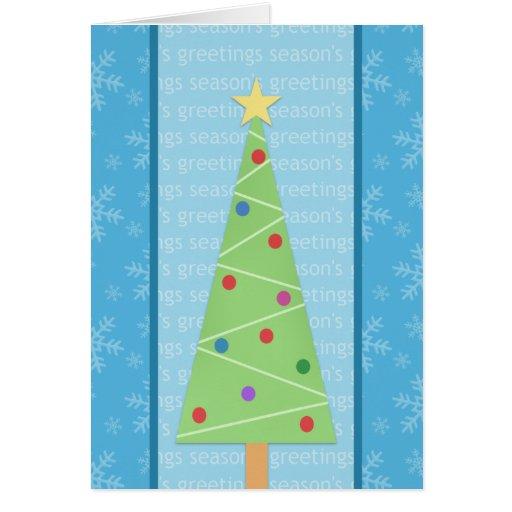 Craft style christmas tree holiday card zazzle for Christmas card christmas tree craft