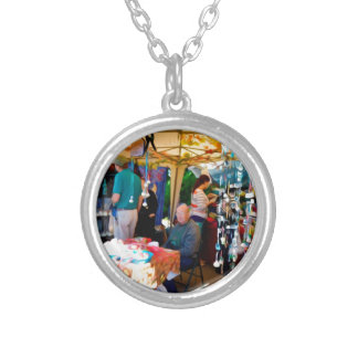 Craft Vendors at Garlic Festival Silver Plated Necklace