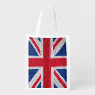 Crafted Union Jack Flag. Grocery Bag