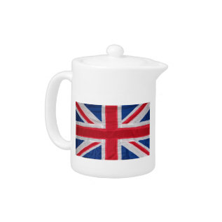 Crafted Union Jack. Teapot at Zazzle