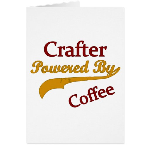 Crafter accionado por el café tarjeta