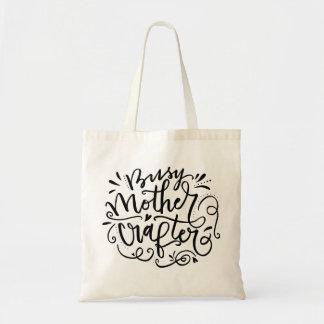 Crafter ocupado de la madre bolsa tela barata