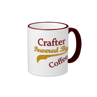 Crafter Powered By Coffee Ringer Mug