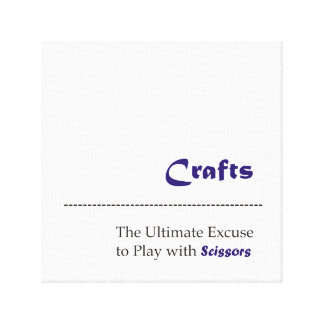 Crafts Play with Scissors Canvas Print