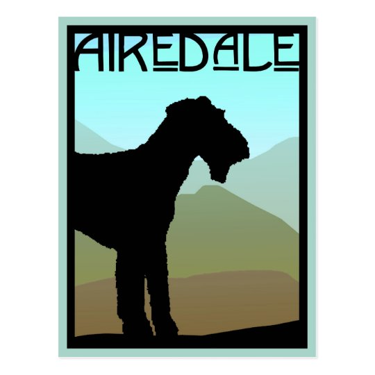 Craftsman Airedale Terrier Postcard