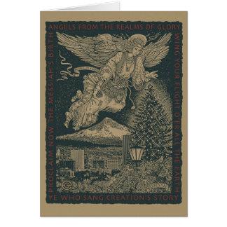 Craftsman Angel Christmas Card