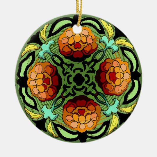 Craftsman Autumn Garden (Ceramic Fan Pull / Orname Ceramic Ornament