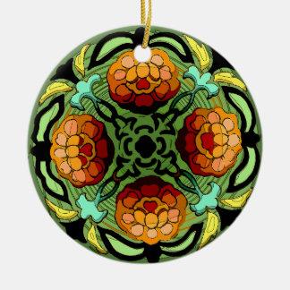 Craftsman Autumn Garden (Ceramic Fan Pull / Orname Christmas Tree Ornaments