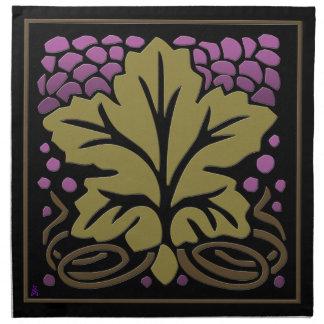 Craftsman Grape Leaf and Grapes (Set of 4) Cloth Napkin