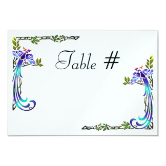 Craftsman Peacocks (Table Numbers) Custom Announcements